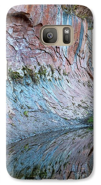 Galaxy Case featuring the photograph Reflections In Oak Creek Canyon by Sandra Bronstein