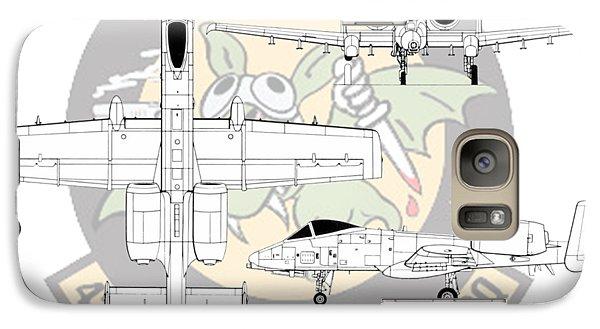 Galaxy Case featuring the digital art Republic A-10 Thunderbolt II by Arthur Eggers