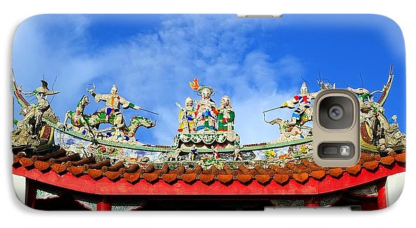 Galaxy Case featuring the photograph Richly Decorated Chinese Temple Roof by Yali Shi
