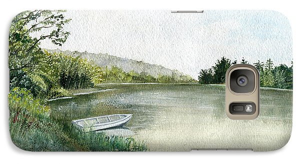 Galaxy Case featuring the painting River Light by Melly Terpening