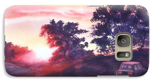 Galaxy Case featuring the painting Road To Fargo by Marilyn Jacobson