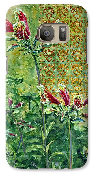 Galaxy Case featuring the painting Roadside Discovery by Suzanne McKee