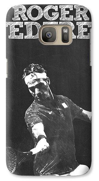 Roger Federer Galaxy S7 Case by Semih Yurdabak