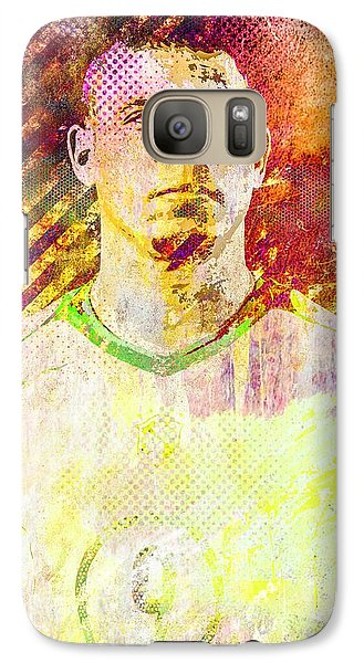 Galaxy Case featuring the mixed media Ronaldo by Svelby Art