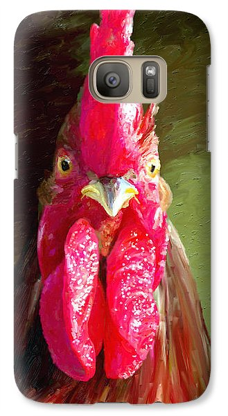 Galaxy Case featuring the painting Rooster 1 by James Shepherd