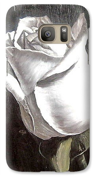 Galaxy Case featuring the painting Rose 2 by Natalia Tejera