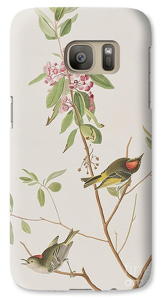 Ruby Crowned Wren Galaxy S7 Case by John James Audubon