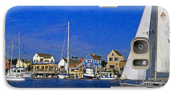 Galaxy Case featuring the photograph Sailing Marina Del Rey Fisherman's Village by David Zanzinger