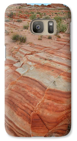 Galaxy Case featuring the photograph Sandstone Stripes In Valley Of Fire by Ray Mathis