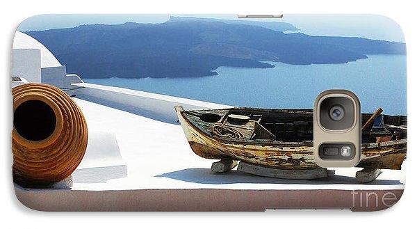 Galaxy Case featuring the photograph Santorini Greece by Bob Christopher