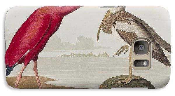 Scarlet Ibis Galaxy Case by John James Audubon