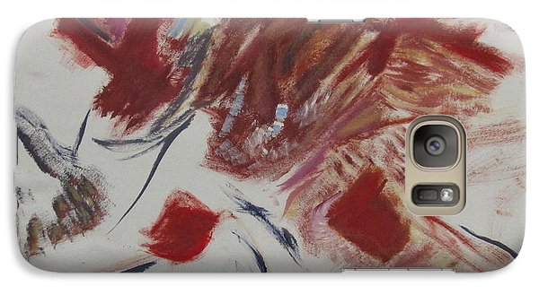 Galaxy Case featuring the painting Scene Of The Crime by Patricia Cleasby
