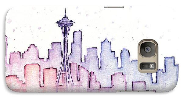 Seattle Skyline Watercolor Galaxy S7 Case