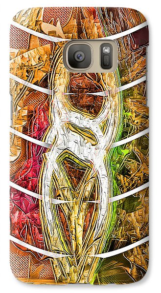 Galaxy Case featuring the digital art Separation by Tyler Robbins
