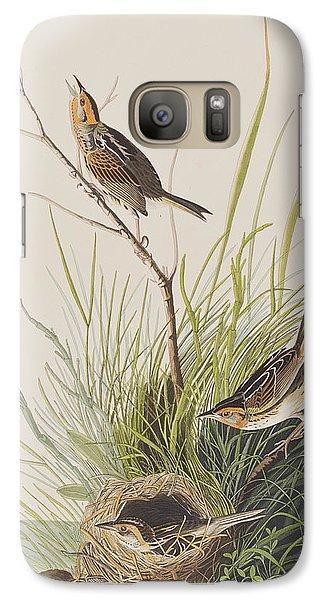 Sharp Tailed Finch Galaxy S7 Case by John James Audubon