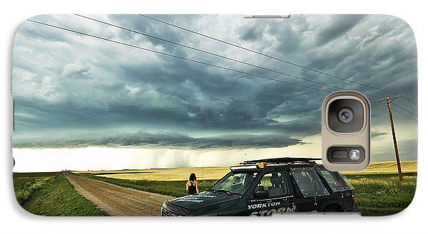 Galaxy Case featuring the photograph Shelf Cloud Near Vibank Sk. by Ryan Crouse
