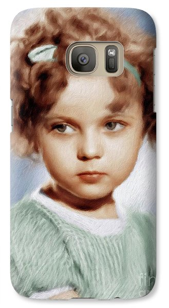 Shirley Temple, Vintage Actress Galaxy S7 Case
