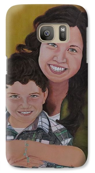 Galaxy Case featuring the painting Siblings by Sharon Schultz