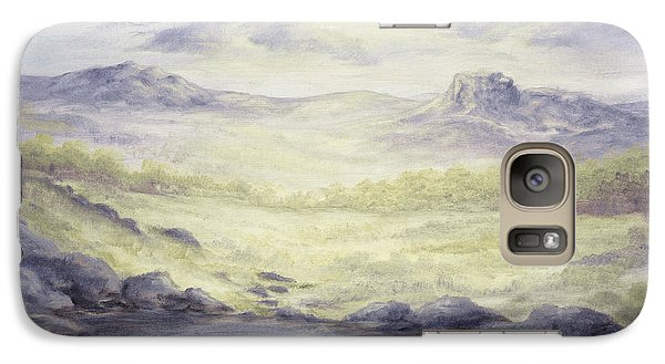 Galaxy Case featuring the painting Silence by Cathy Cleveland