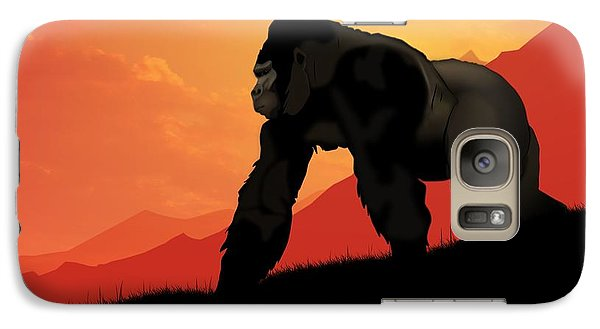 Galaxy Case featuring the digital art Silverback Gorilla by John Wills