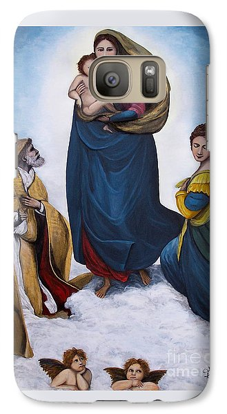 Galaxy Case featuring the painting Sistine Madonna by Judy Kirouac
