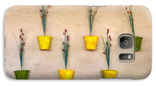 Six Flower Pots On The Wall Galaxy S7 Case