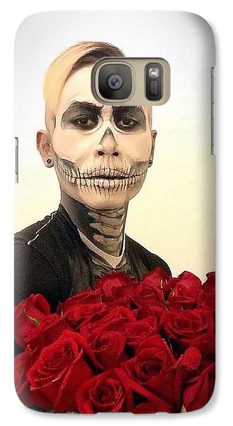 Skull Tux And Roses Galaxy S7 Case by Kent Chua