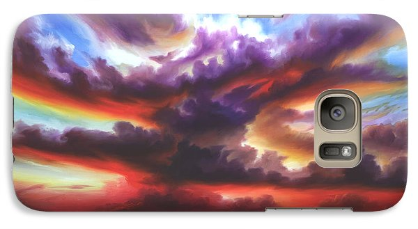 Galaxy Case featuring the painting Skyburst by James Christopher Hill