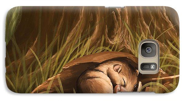 Galaxy Case featuring the painting Sleeping  by Veronica Minozzi