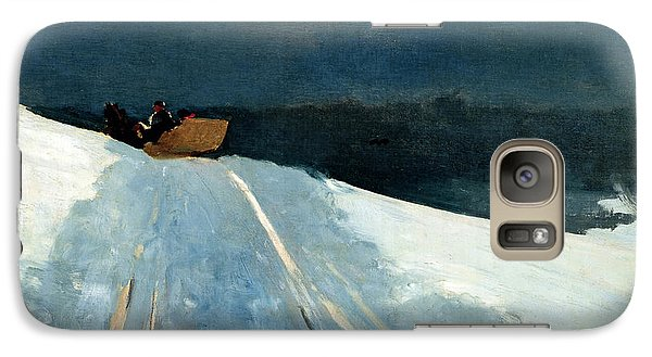 Galaxy Case featuring the painting Sleigh Ride by Winslow Homer