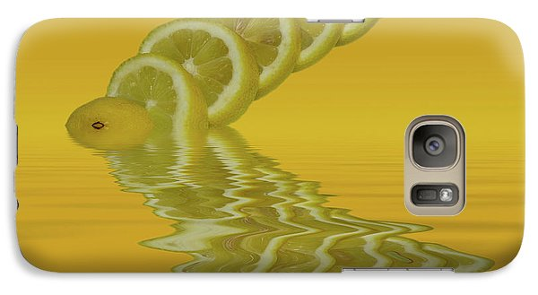 Galaxy Case featuring the photograph Slices Lemon Citrus Fruit by David French