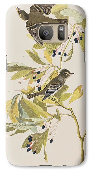 Small Green Crested Flycatcher Galaxy S7 Case by John James Audubon