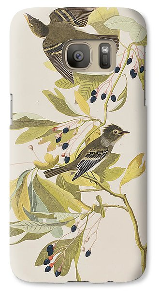 Small Green Crested Flycatcher Galaxy Case by John James Audubon