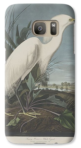 Egret Galaxy S7 Case - Snowy Heron Or White Egret by Dreyer Wildlife Print Collections