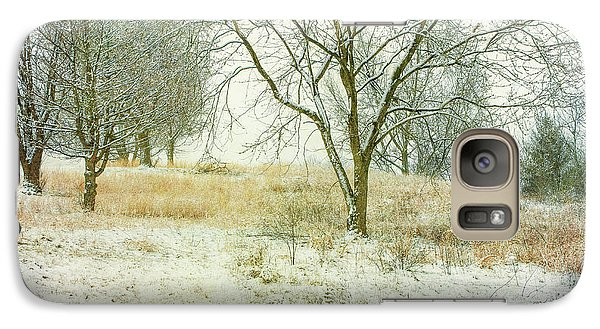 Galaxy Case featuring the digital art Snowy Winter Morning by Randy Steele