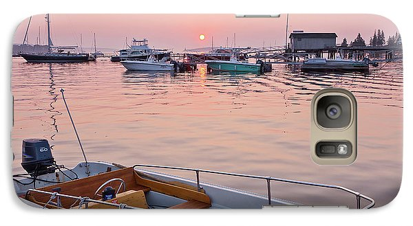 Galaxy Case featuring the photograph Southwest Harbor Sunrise by Susan Cole Kelly