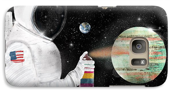 Galaxy Case featuring the painting Space Graffiti by Bri B