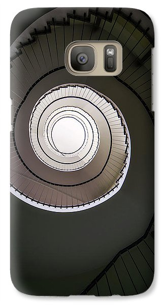 Galaxy Case featuring the photograph Spiral Staircase In Brown Tones by Jaroslaw Blaminsky