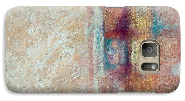 Galaxy Case featuring the painting Spirit Matter Cosmos by Kerryn Madsen-Pietsch