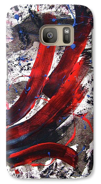 Galaxy Case featuring the painting Splitting The Atom by Roberto Prusso
