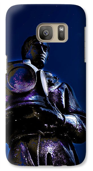 Galaxy Case featuring the photograph Sponge Diver by Randy Sylvia