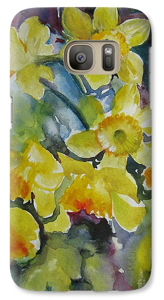 Galaxy Case featuring the painting Spring Flowers by Elena Oleniuc