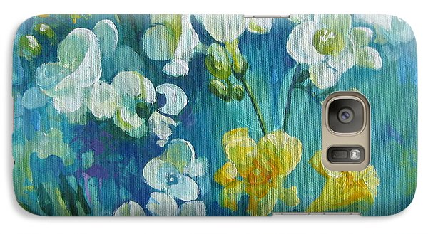 Galaxy Case featuring the painting Spring Fragrances by Elena Oleniuc