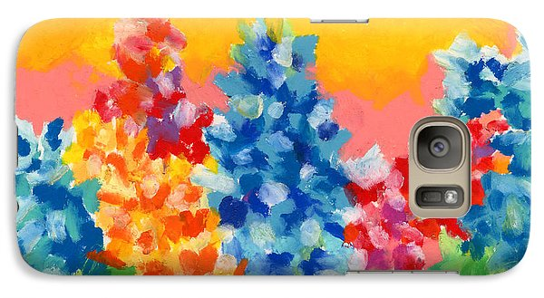 Galaxy Case featuring the painting Spring Wildflowers by Stephen Anderson