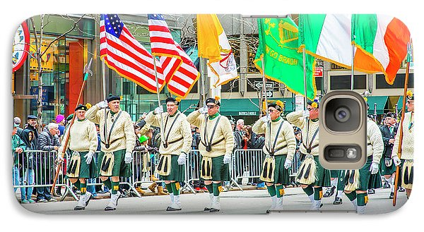 St. Patrick Day Parade In New York Galaxy S7 Case