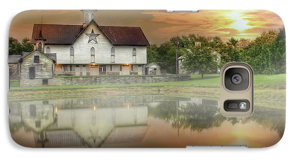 Galaxy Case featuring the mixed media Star Barn Sunrise by Lori Deiter