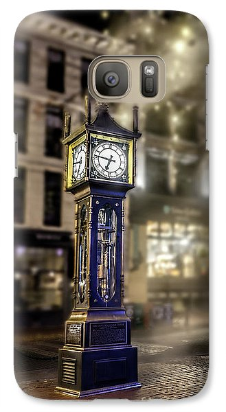 Galaxy Case featuring the photograph Steam Clock by Jim  Hatch