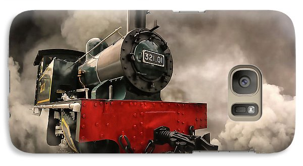 Galaxy Case featuring the photograph Steam Engine by Charuhas Images