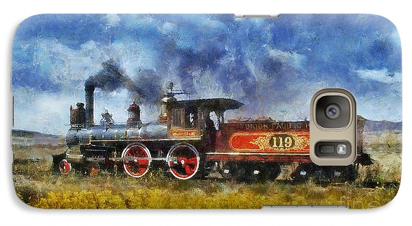 Galaxy Case featuring the photograph Steam Locomotive by Ian Mitchell