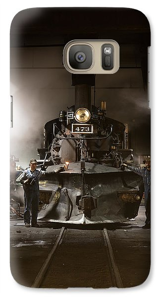 Galaxy Case featuring the photograph Steam Locomotive In The Roundhouse Of The Durango And Silverton Narrow Gauge Railroad In Durango by Carol M Highsmith